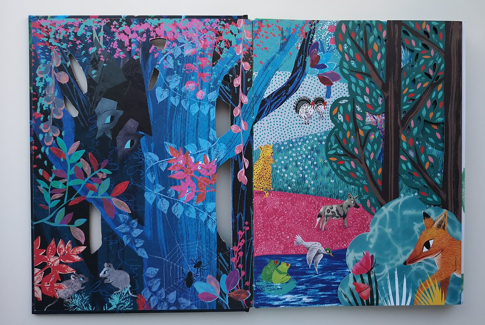 The endpapers of Counting Creatures julia donaldson sharon king-chai two hoots books