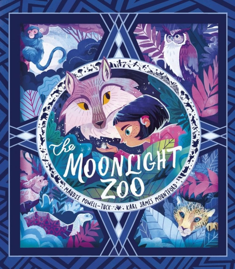 The Moonlight Zoo by Maudie Powell-Tuck & Karl James Mountford, Little Tiger, book cover