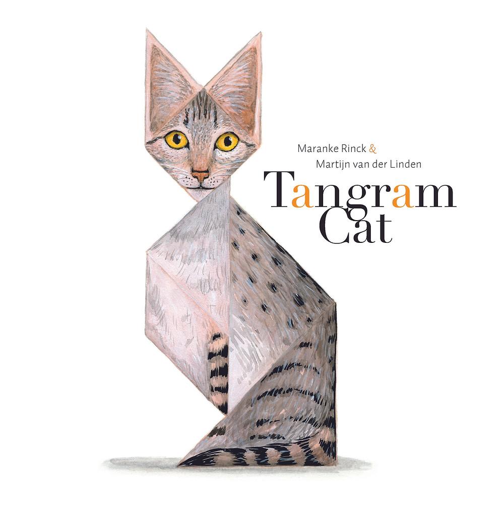 Tangram Cat by Maranke Rinck & Martijn van der Linden Lemniscaat book cover
