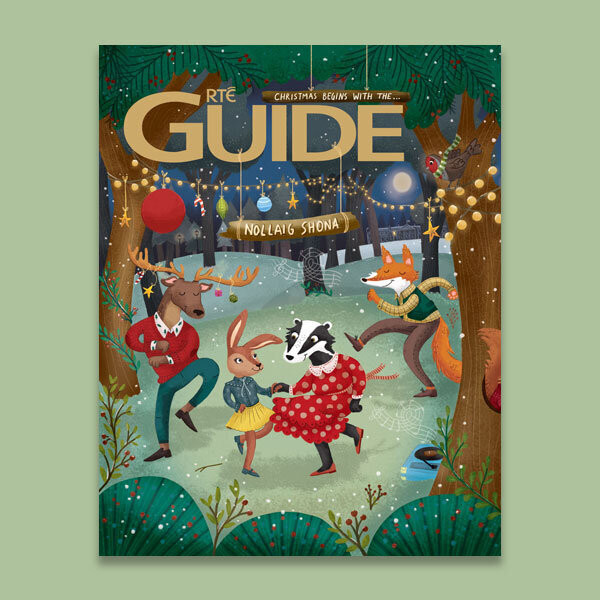RTÉ Guide Christmas Edition Cover designed by Tarsila Krüse