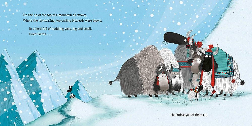 Illustration by Kate Hindley from The Littlest Yak by Lu Fraser