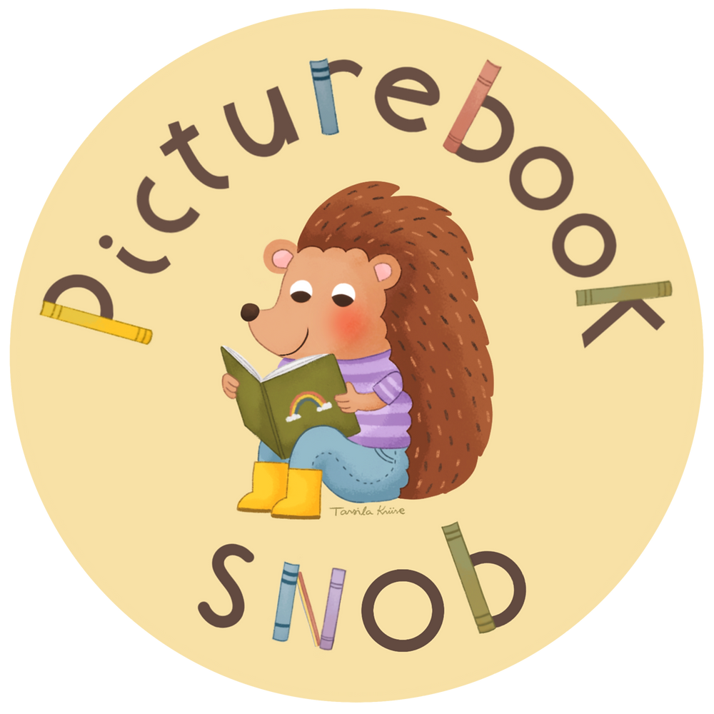 The Picturebook Snob logo designed by Tarsila Krüse