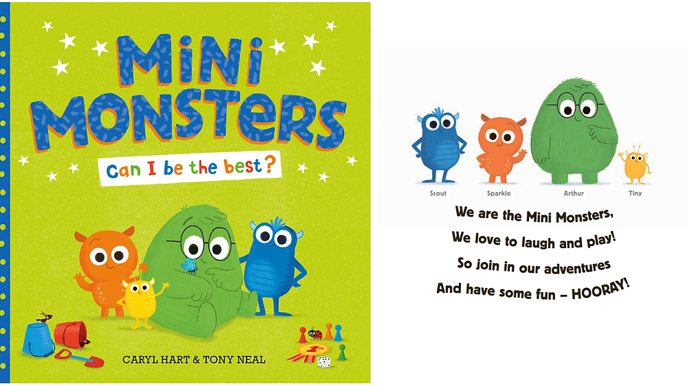 Mini Monsters Can I Be The Best? by Caryl Hart and Tony Neal, published by Simon & Schuster. Cover.