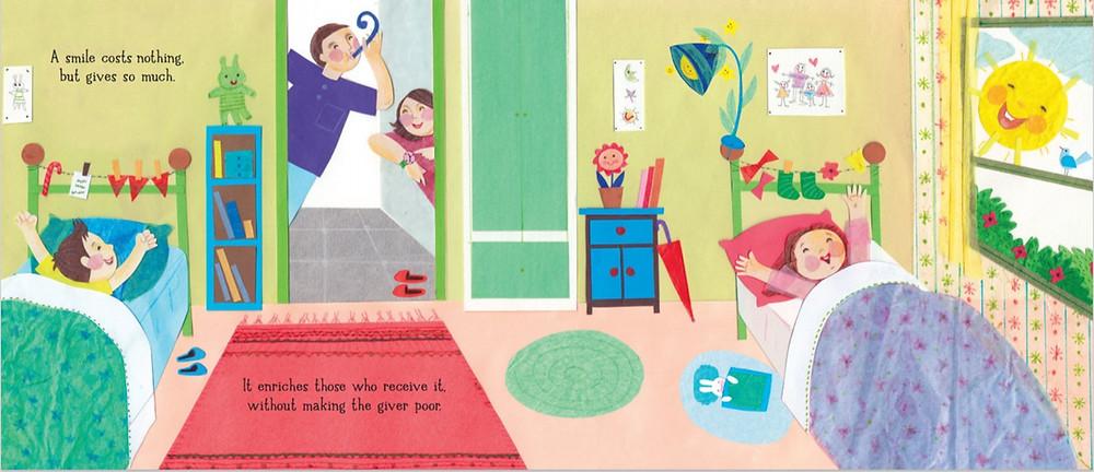 A Smile by Raoul Follereau, illustrated by Hoda Hadadi, Pikku Publishing