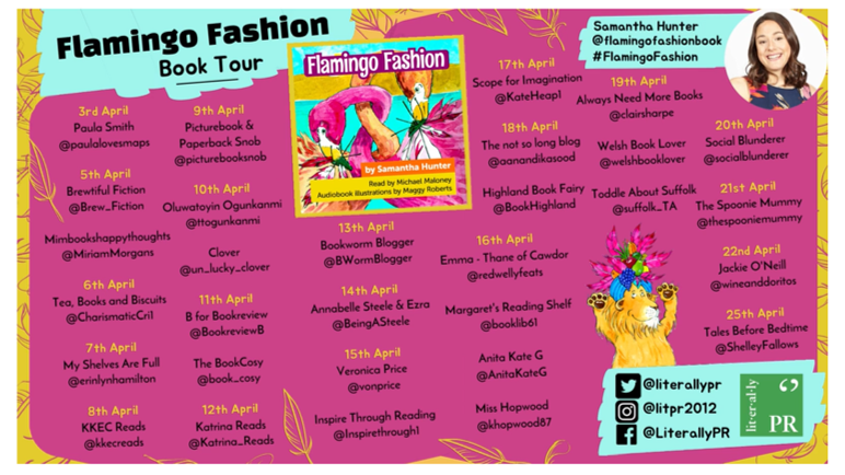 BLOG TOUR: Flamingo Fashion by Samantha Hunter, read by Michael Maloney