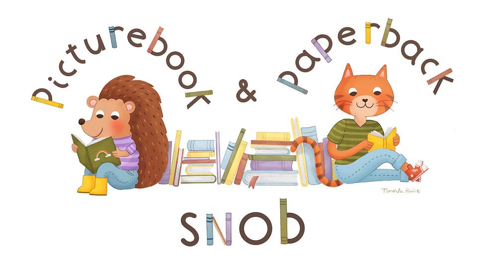 Picturebook & Paperback Snob logos designed by children's book illustrator and artist arsila Krüse