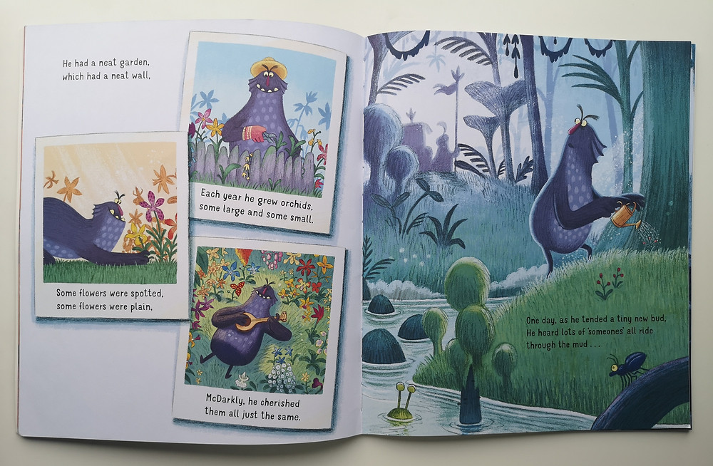 One of Ben Mantle's illustrations for King of the Swamp by Catherine Emmett