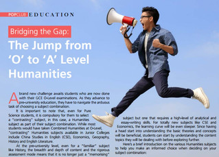 "Bridging the Gap: The Jump from ""O"" to ""A"" Levels Humanities"