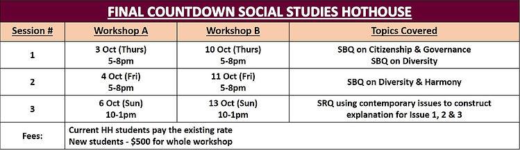 Final Countdown Social Studies Hothouse.