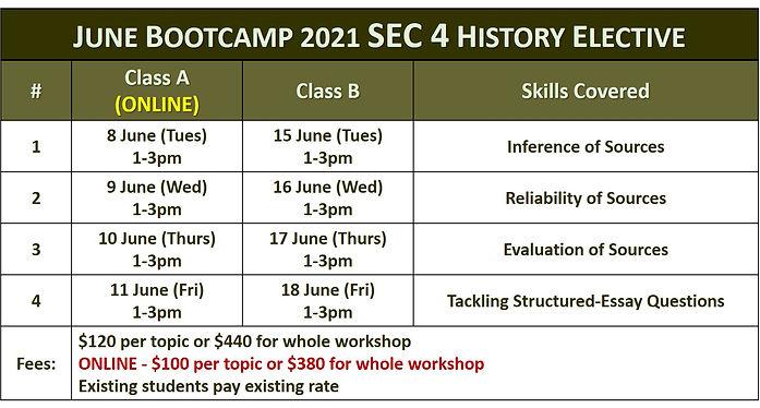 June Holidays S4 History Elective 2021.j