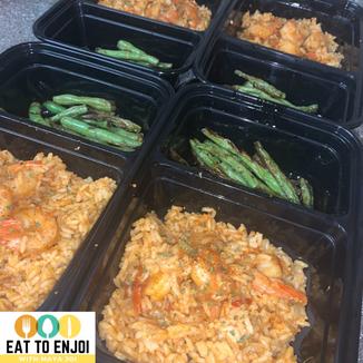 Cajum Shrimp & Rice with Green Bean