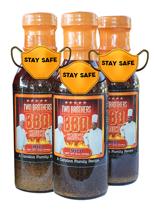 3 Bottles Mild Flavor of Two Brothers BBQ Sauce