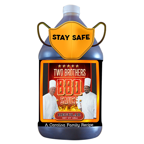 128oz - Gallon Regular Flavor - Two Brothers BBQ Sauce