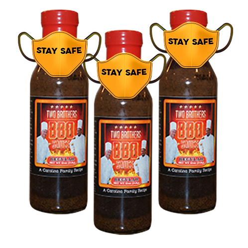 3 Bottles Regular Flavor of Two Brothers BBQ Sauce