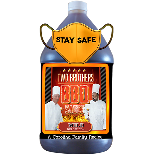 128oz - Gallon Mild Flavor  Two Brothers BBQ Sauce