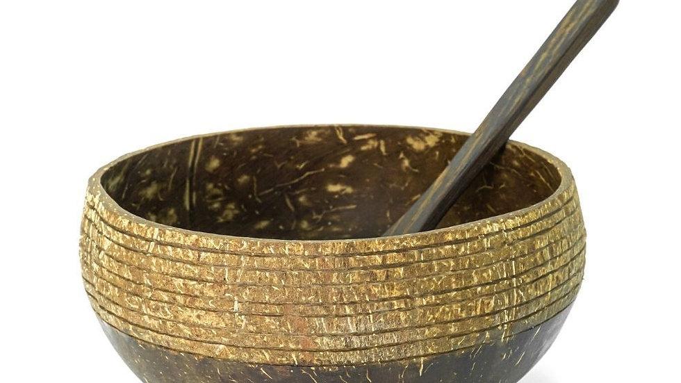 Coconut Bowl & Spoon Cosmos Design