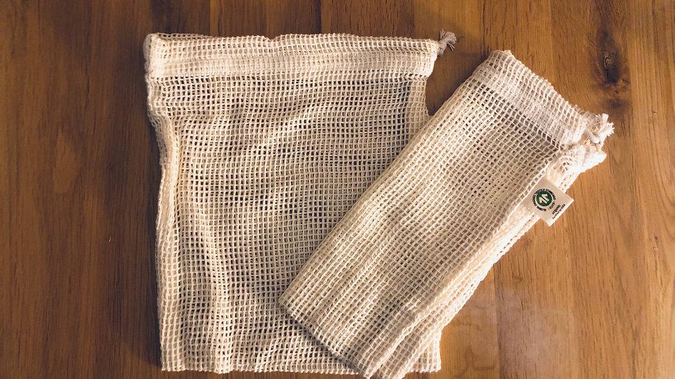 Organic Mesh Cotton Produce Bag Medium