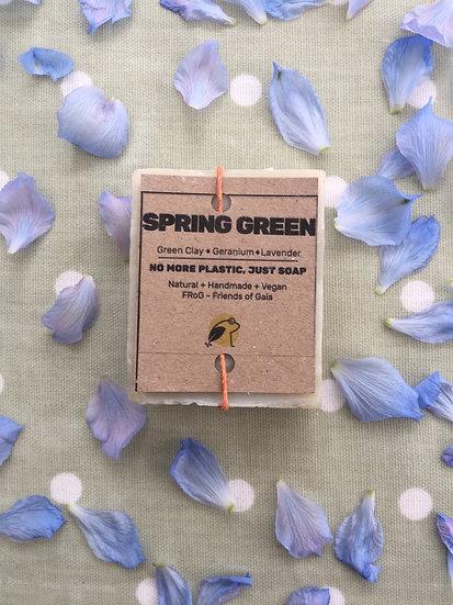 Green Clay, Geranium and Lavender Soap Bar