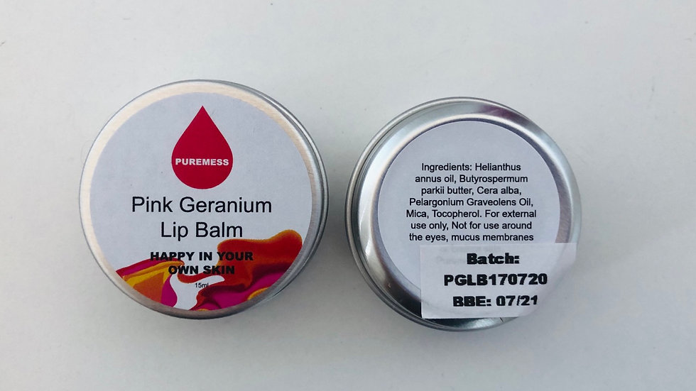 Pink Geranium Lip Balm