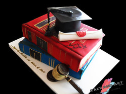 School Books, Cap and Diploma