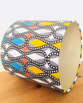 Drum Lampshade in Ghanian screen print.j