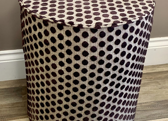 Upholstered Pouffe Seat - Chocolate spots
