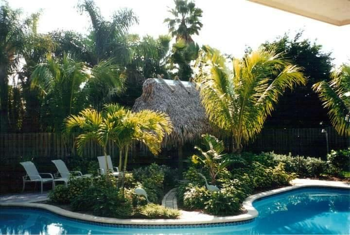 pool tiki hut