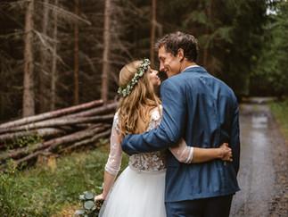 Krásná přírodní svatba