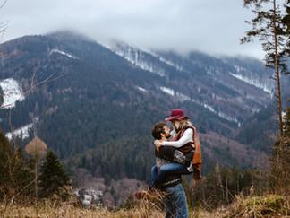Párové focení na horách