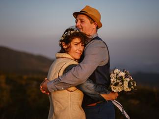 Svatební focení na hřebenu Malé Fatry