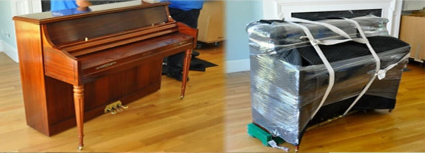 Luna's Piano Moving: Upright Before and after piano moving. Upright Piano on a piano board. Luna's Piano Movers - Los Angeles Piano Movers - Orange County Piano Movers - ventura County Piano Movers