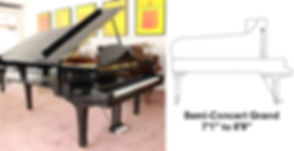 Luna's Piano Moving - 7ft6inch Semi concert grand piano