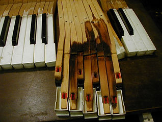 Luna's Piano Moving & Storage - Water damage due to improper piano storage