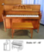 Luna's Piano Movers - Yamaha Studio Upright 44inch tall