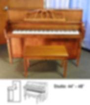Yamaha Studio Upright 44inch wutg Diagra