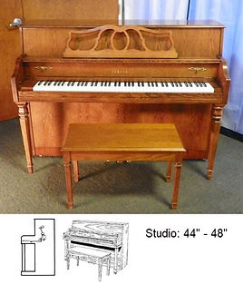 """Studio Upright 44"""" to 48"""" - Courtesy of Luna's Piano Moving and Storage"""