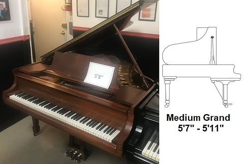 "Luna's Piano Movers - 5'8"" Baby Grand Piano Measuremets"