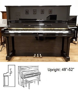 """Upright 48"""" to 52""""  - Courtesy of Luna's Piano Moving and Storage"""