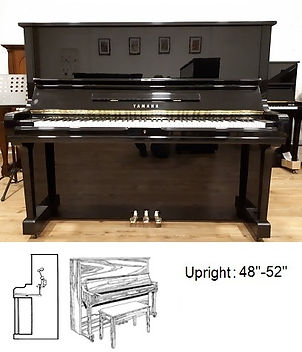 Luna's Piano Movers - Yamaha U3 Upright 51inch with Diagram -  Los Angeles Piano Movers - Los Angeles Piano Moving - Orange County Piano Movers - Orange County Piano Moving