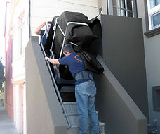 Baby Grand Being brought up stairs (1).j