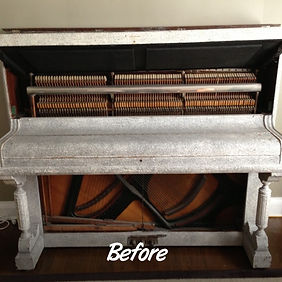 Before and After Piano Disposal. Luna's Piano Movers