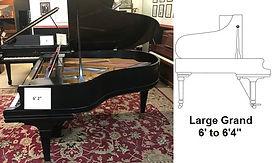 Luna's Piano Moving - 6ft2inch grand piano - Luna's Piano Movers