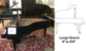Luna's Piano Moving - 6ft2inch grand piano - Luna's Piano Movers