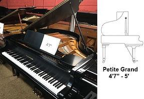 Luna's Piano Movers - 4ft7inch Petite Grand Diagram