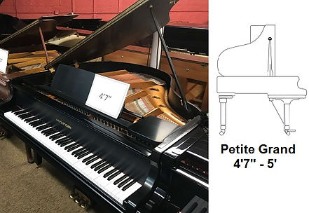 Luna's Piano Movers - 4ft7inch Petite Grand Diagram