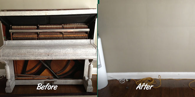Luna's Piano Moving - Piano Removal Before and After