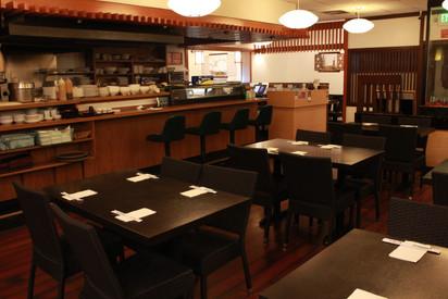Opened kitchen and Sushi bar
