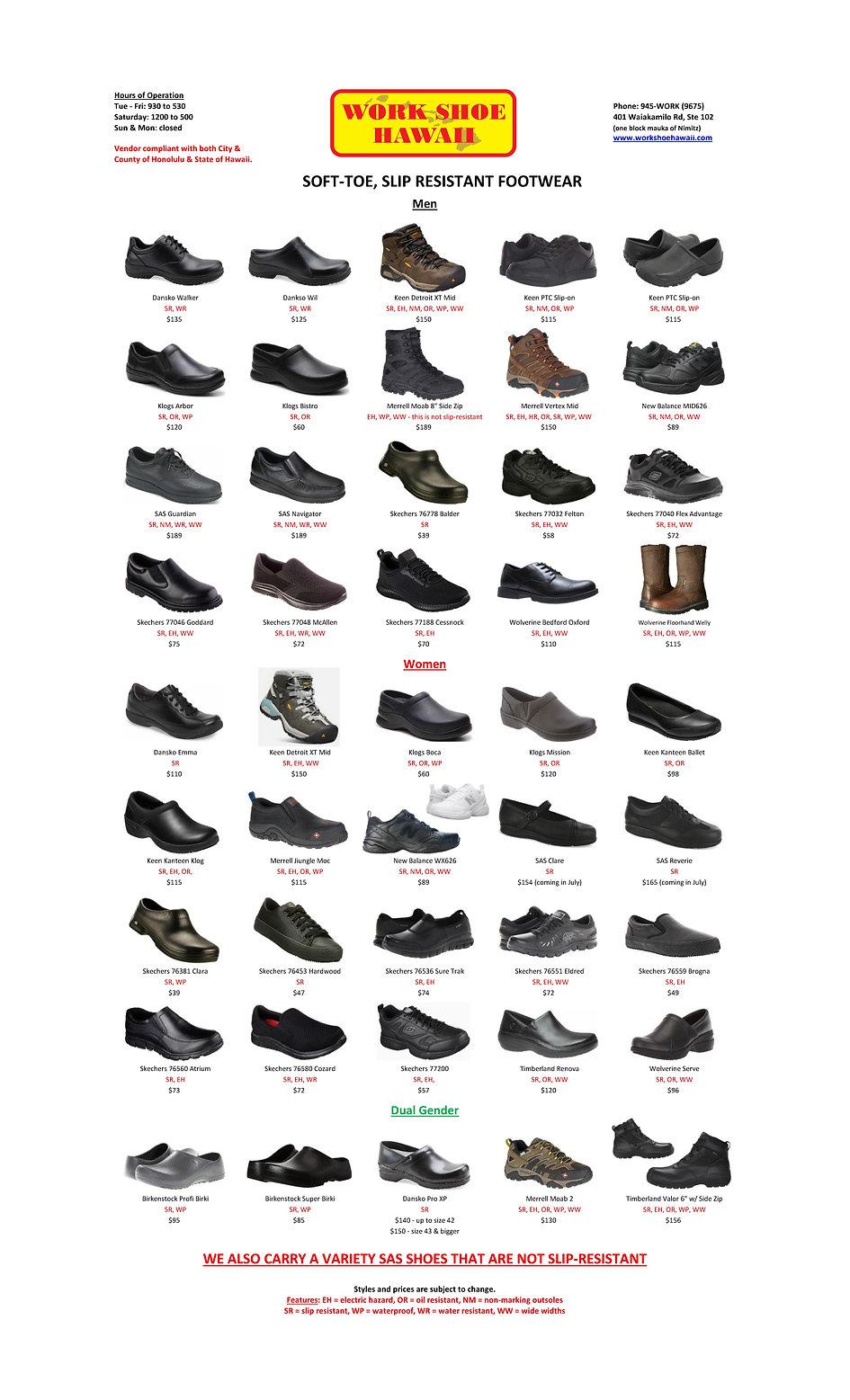 Work Shoe Hawaii Soft Toe Slip Resistant