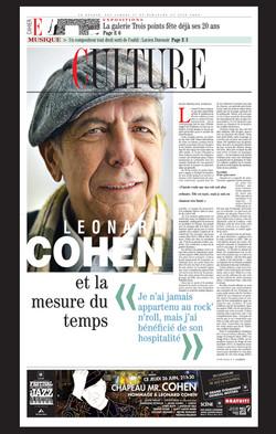 Leonard Cohen et la mesure du temps