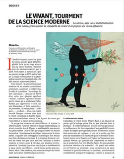 Le vivant et la science moderne